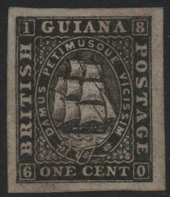 BRITISH GUIANA: 1866-1871 Sg 85 1c Black Imperf Plate Proof Example (30682)