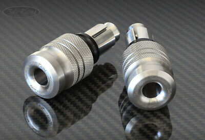 Sato Racing  HANDLE BAR ENDS (Long)  Stainless Steel with 2 Expandable inserts