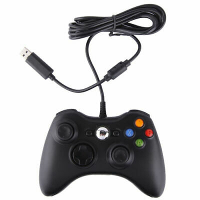 OFFICIAL GENUINE MICROSOFT XBOX 360 WIRED USB CONTROLLER For Windows Black