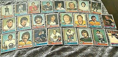 1974-75 Topps Hockey Lot Set (22 cards) available for your sets