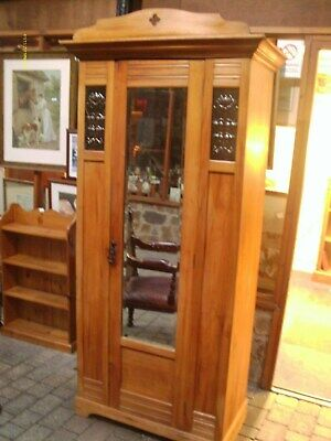 antique satinwood wardrobe