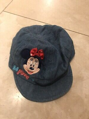 Girls Disney Minnie Mouse Denim Sun Hat 3-5 Years