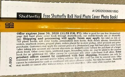 Shutterfly 8x8 Hard Cover Photo Book Code Exp 06/30/2020 Monopoly Safeway Game