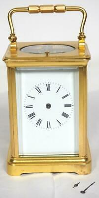 Antique French Original Gilded Ormolu 8 Day Striking Repeat Carriage Clock