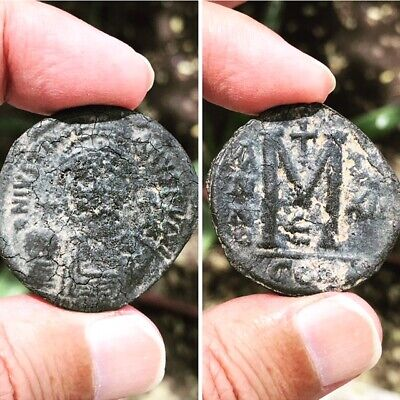 JUSTINIAN I the GREAT 527-565AD Follis  Metal Ancient Byzantine Coin Rare