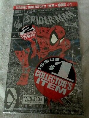 Spiderman #1 BAGGED NO PRICE ON COMIC VARIANT NM  FREE SHIPPING CANADA ONLY
