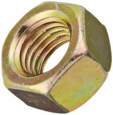 "1/2""-12 Bsw yellow zinc plated Left Thread Hex Nuts 4 pcs"