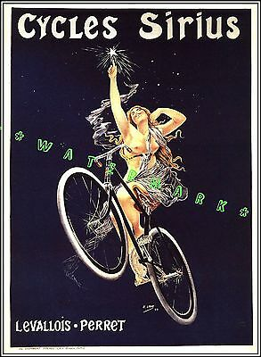 16x24 Les Cycles Wonder Electric 1923 Vintage Style French Bicycle Poster