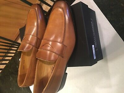 Men's Saks fifth avenue loafers size 10.5 made in Italy cobbler soles