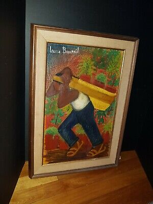 Vintage Mexican Painting Listed Artist Irene Becerril Rare Early Painting 1964