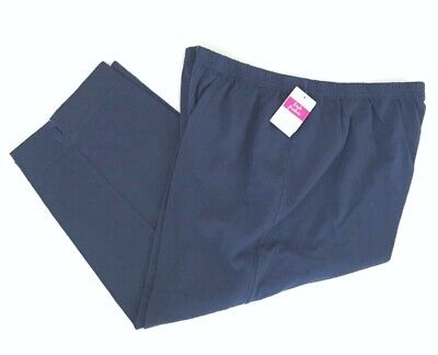 FRESH PRODUCE 1X Moonlight NAVY BLUE Jersey Stretch Cotton Capris $52 NWT New 1X