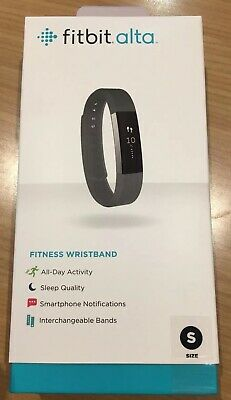 Used Fitbit Alta With Box Black Band Size Small Used