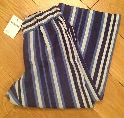 ASOS MATERNITY Size 6 Striped Wide Leg Mid-Calf Length Trousers NEW WITH TAGS