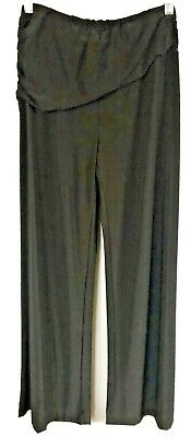 M by Marc Bouwer Women's Pants Sz XS Black Pull-on Wide Leg Ruched Overlay L11
