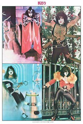 KISS Band 24 x 36 Australian Dynasty Collage Reprint Poster - Rock Collectibles