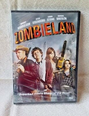 Zombieland DVD 2010 Woody Harrelson Jesse Eisenberg Special Features Halloween