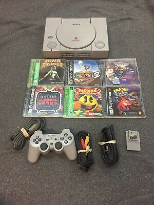 Sony PS1 Console Bundle (SCPH-9001)- Playstation 1 w/  1 Controller 6Games!