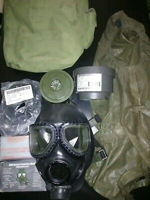 M40 Gas Mask Med,C2A1 Filter,Carry Bag,Quick Doff,Pmcs Checklist,Outserts