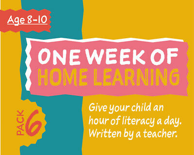 One Week Of Literacy Work For Home Learning (8-10 years) Pack 6