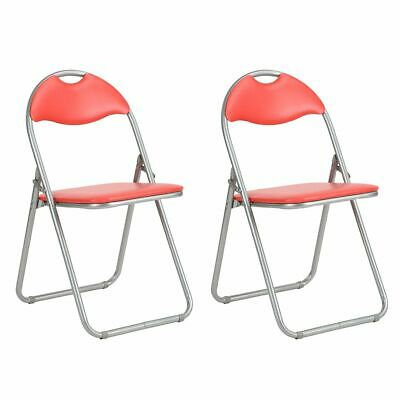 Altobuy - Patty - Lot de 2 Chaises Pliantes Rouges et Grises - Neuf