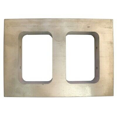 Mould Mold Frame Double Opening 73mm x 47mm x 19mm Casting Vulcanising - TC010