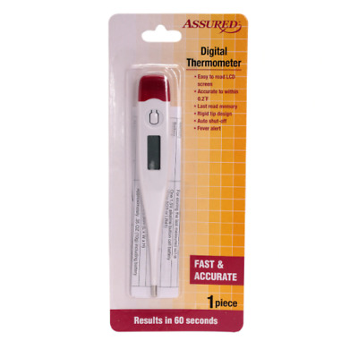NEW! Assured Digital LCD Thermometer Adult Baby Temperature 100% FOR CHARITY!!