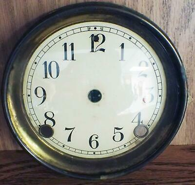 Antique American Celluloid Dial And Bezel Assembly For 8-Day Mantel Clock Parts
