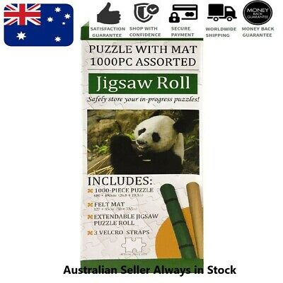 1000-Piece Puzzle: Panda + Jigsaw Felt Roll Mat Holds up to 2000 Pieces NEW