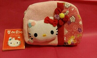 Hello Kitty tradition collection Small Purse Coin Bag with zipper from Japan New
