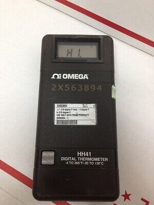Omega Engineering HH41 Handheld Industrial Portable Digital Probe Thermometer