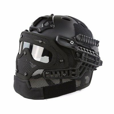 Tactical Protective Goggles G4 System Full Face Mask Helmet Airsoft Paintball BK
