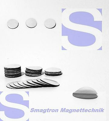 250 Piece 40mm Magnetic Plates (Takkis), Self-Adhesive Foil Points
