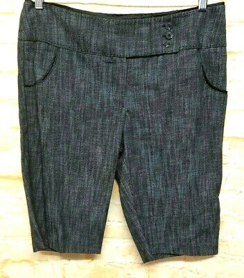 CHIME Indian Summer Short Pants 2 Pockets Black Gray Casual Women Size 11