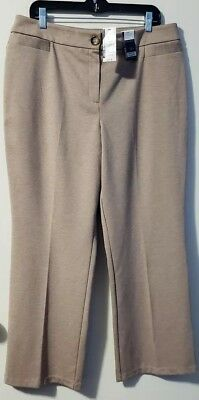 New York & Co. Women's Petite City Knit Whitney Stretch Pants Size XL Sand NWT