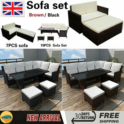 Outdoor Rattan Garden Furniture Sofa Set Chair Swiming Pool Patio Wicker Modern