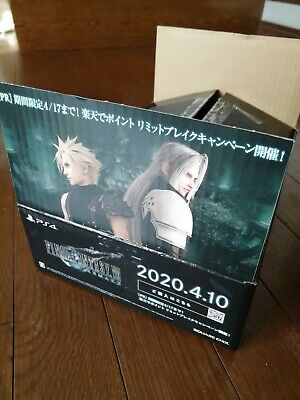 FINAL FANTASY VII 7 REMAKE Add Cardboard box Limited Used from Japan