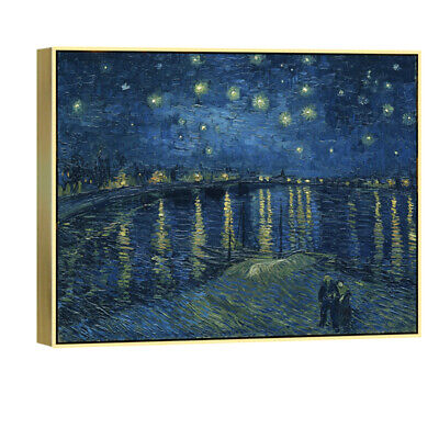 Canvas Print Van Gogh Painting Wall Art Home Decor Starry Night Over The Rhone
