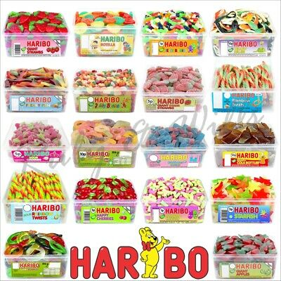 1 x Haribo Sweets Tub Retro Sweets Gift Box Candy Kids Birthday Wedding Favours