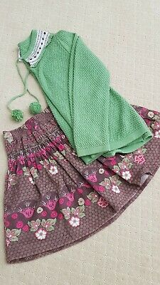 Girls winter outfit size 6 cardigan and skirt
