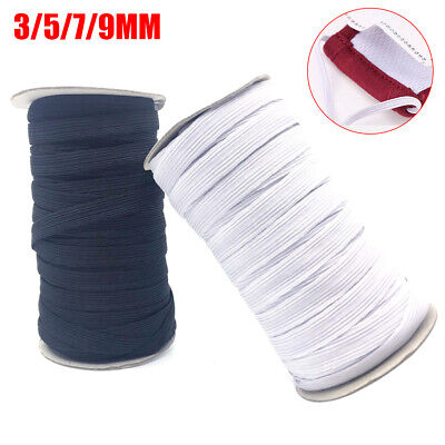 3/5/7/9Mm Stretch Flat Elastic Waist Band For Woven Sewing Trouser Dressmaking