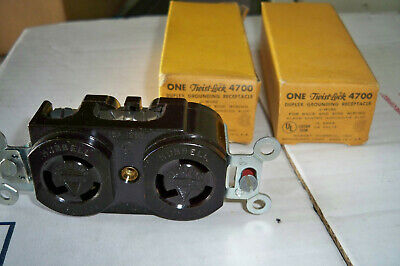 Lot 3 new Hubbell 4700 Twist Lock Duplex Receptacle 15A
