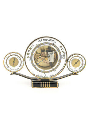 Lufft Wetterstation barometer Thermometer Hygrometer art deco