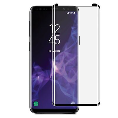 Blu Element 3D Curved Glass Case Friendly Screen Protector Black for Samsung