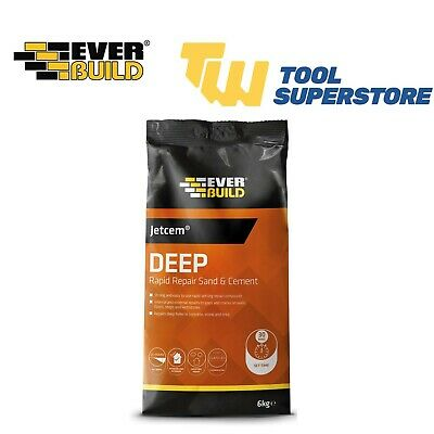 Everbuild JETCEM Premix Sand and Cement JETX6 6KG Rapid Setting Building Cement