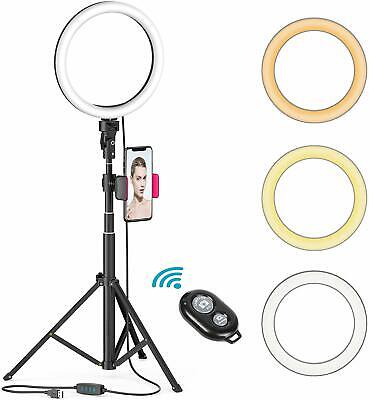 "8"" LED Ring Light w/Stand Mount Kit for Camera Phone Selfie Video Live Stream UP"