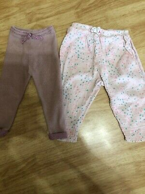 Zara  girls leggings and trousers , 12/18 months