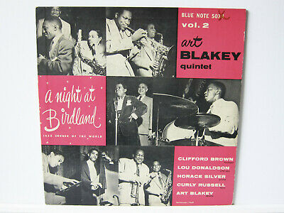 "ART BLAKEY QUINTET - A NIGHT AT BIRDLAND - Orig. USA Blue Note 5038 10"" LP"
