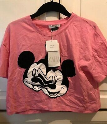 ZARA MICKEY MOUSE Glitch Collection Disney T Shirt Top Size