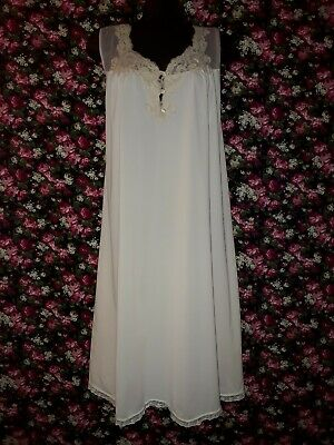 Genuine Vintage 80s Beige Nightie Size L