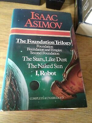 Issac Asimov Foundation Trilogy I Robot The Naked Sun The Stars Like Dust hb